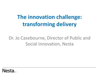 1. How can innovation be used?