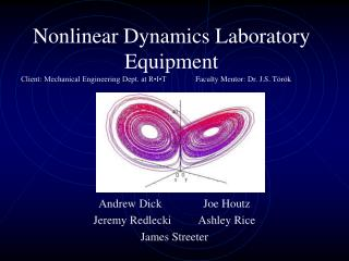 Nonlinear Dynamics Laboratory Equipment