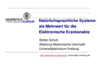Nat�rlichsprachliche Systeme als Mehrwert f�r die Elektronische Krankenakte