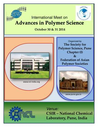 Organized  by The Society for Polymer Science, Pune Chapter (I)  &