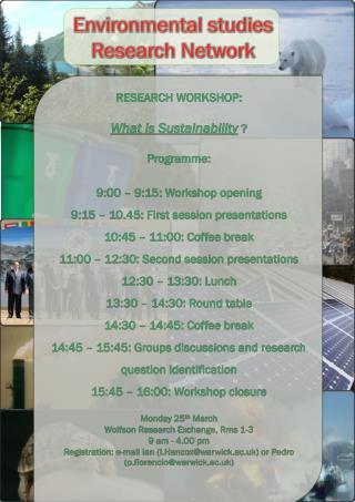 Environmental studies Research Network