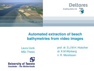 Automated extraction of beach bathymetries from video images