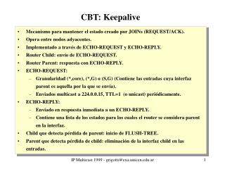 CBT: Keepalive