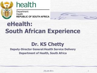 eHealth: South African Experience