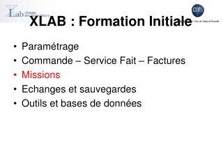 XLAB : Formation Initiale