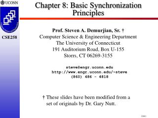 Chapter 8:  Basic Synchronization Principles
