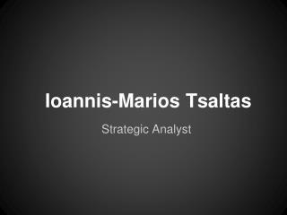 Ioannis-Marios Tsaltas