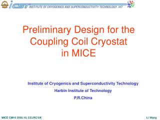 Preliminary Design for the Coupling Coil Cryostat  in MICE