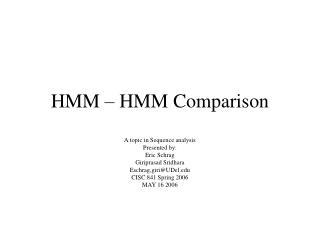HMM – HMM Comparison
