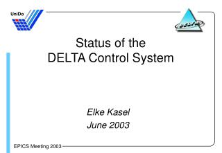 Status of the  DELTA Control System