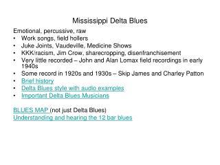 Mississippi Delta Blues