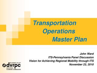 Transportation 	Operations 		Master Plan