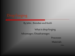 Drop Forging