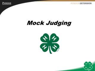Mock Judging