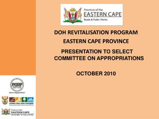 DOH REVITALISATION PROGRAM EASTERN CAPE PROVINCE