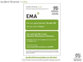 Thinking of applying for EMA for the first time? EMA is a payment of £30 per week;
