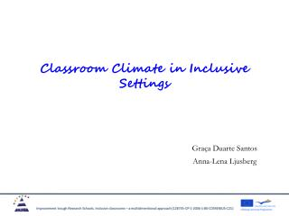Classroom Climate in Inclusive Settings