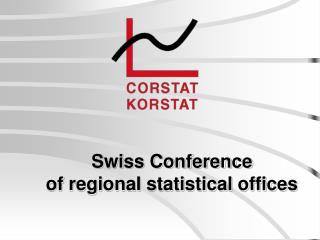 Swiss Conference of regional statistical offices