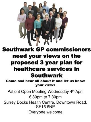 Patient Open Meeting Wednesday 4 th  April 6.30pm to 7.30pm