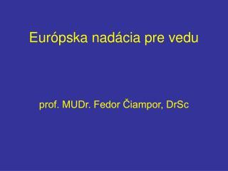 Európska nadácia pre vedu