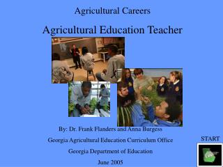 Agricultural Careers Agricultural Education Teacher