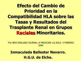 Inmaculada Ballester Navarro. H.G.U. de Elche.
