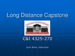 Long Distance Capstone