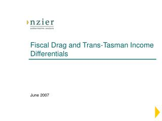 Fiscal Drag and Trans-Tasman Income Differentials