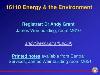 16110 Energy & the Environment