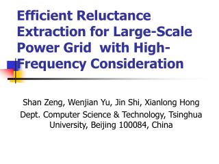 Efficient Reluctance Extraction for  Large-Scale  Power Grid   with High- Frequency  Consideration