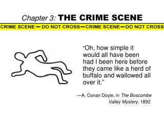Chapter 3: THE CRIME SCENE