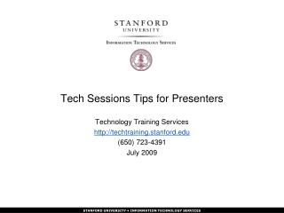 Tech Sessions Tips for Presenters