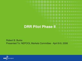 DRR Pilot Phase II