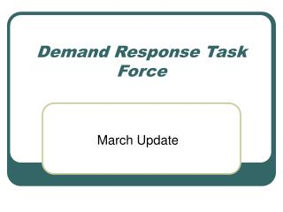 Demand Response Task Force