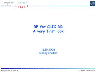 RF for CLIC DR A very first look