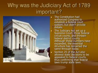 Why was the Judiciary Act of 1789 important?