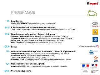 Introduction Xavier DE FROMENT  Directeur France du Groupe Legrand