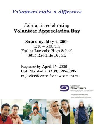 Join us in celebrating Volunteer Appreciation Day