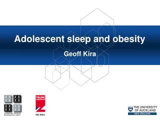 Adolescent sleep and obesity