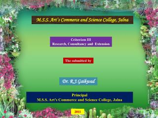 M.S.S. Art's Commerce and Science College, Jalna