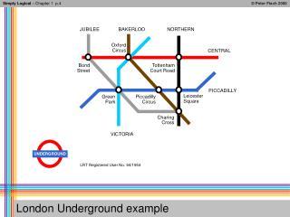 London Underground example
