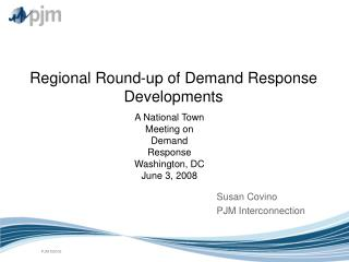 Regional Round-up of Demand Response Developments