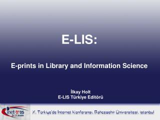 E-LIS: E-prints in Library and Information Science