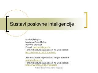 Sustavi poslovne inteligencije