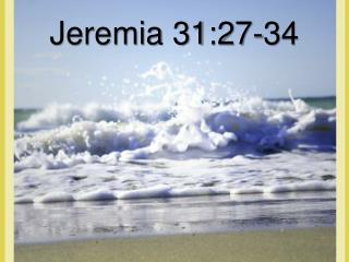 Jeremia 31:27-34