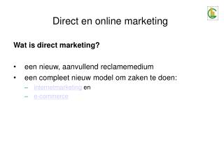 Direct en online marketing