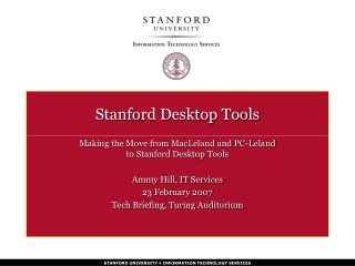 Click here for the PowerPoint Presentation on Stanford ...