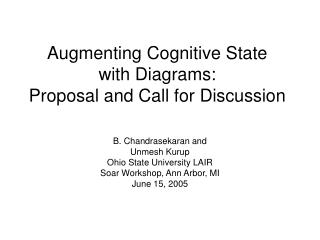 Augmenting Cognitive State  with Diagrams: Proposal and Call for Discussion