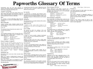 Papworths Glossary Of Terms