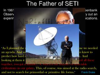 The Father of SETI